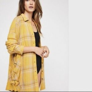 Free People Nordic Day Plaid Button Down Shirt!